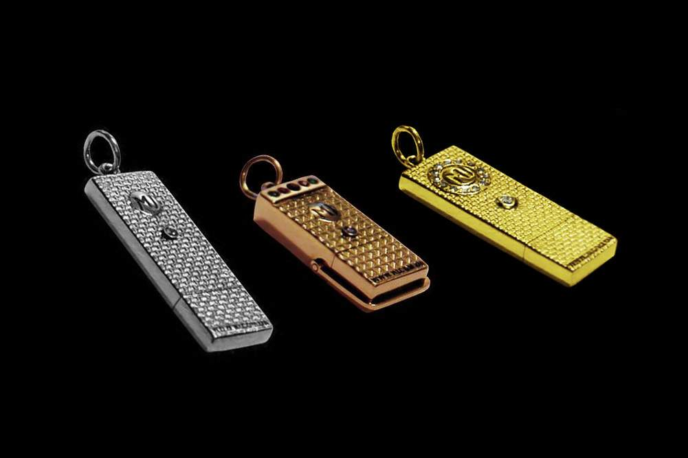 MJ - USB Flash Drive Gold Diamond Edition - Solid Gold 585, 750 or 999