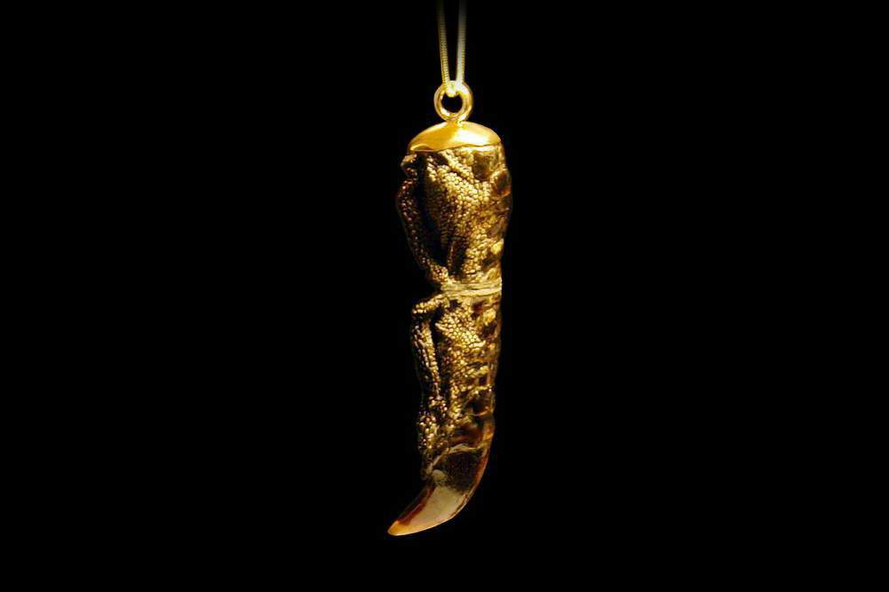 MJ - USB Flash Drive Gold Nature Edition - Ostrich Claw & Gold.