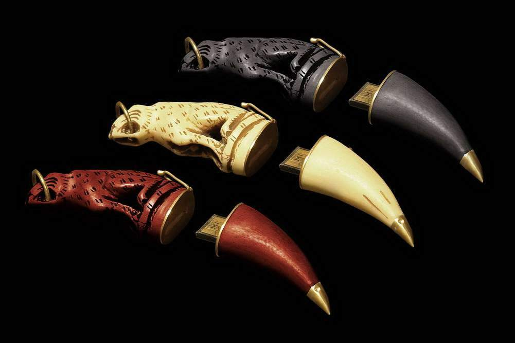 MJ - USB Flash Drive Wild Animal Gold Claw Limited Edition - Mahogany, Ivory, Blackwood, Gold, Brilliants